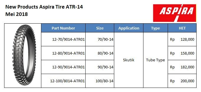 Ban Offroad Skuter Matik Aspira ATR-14