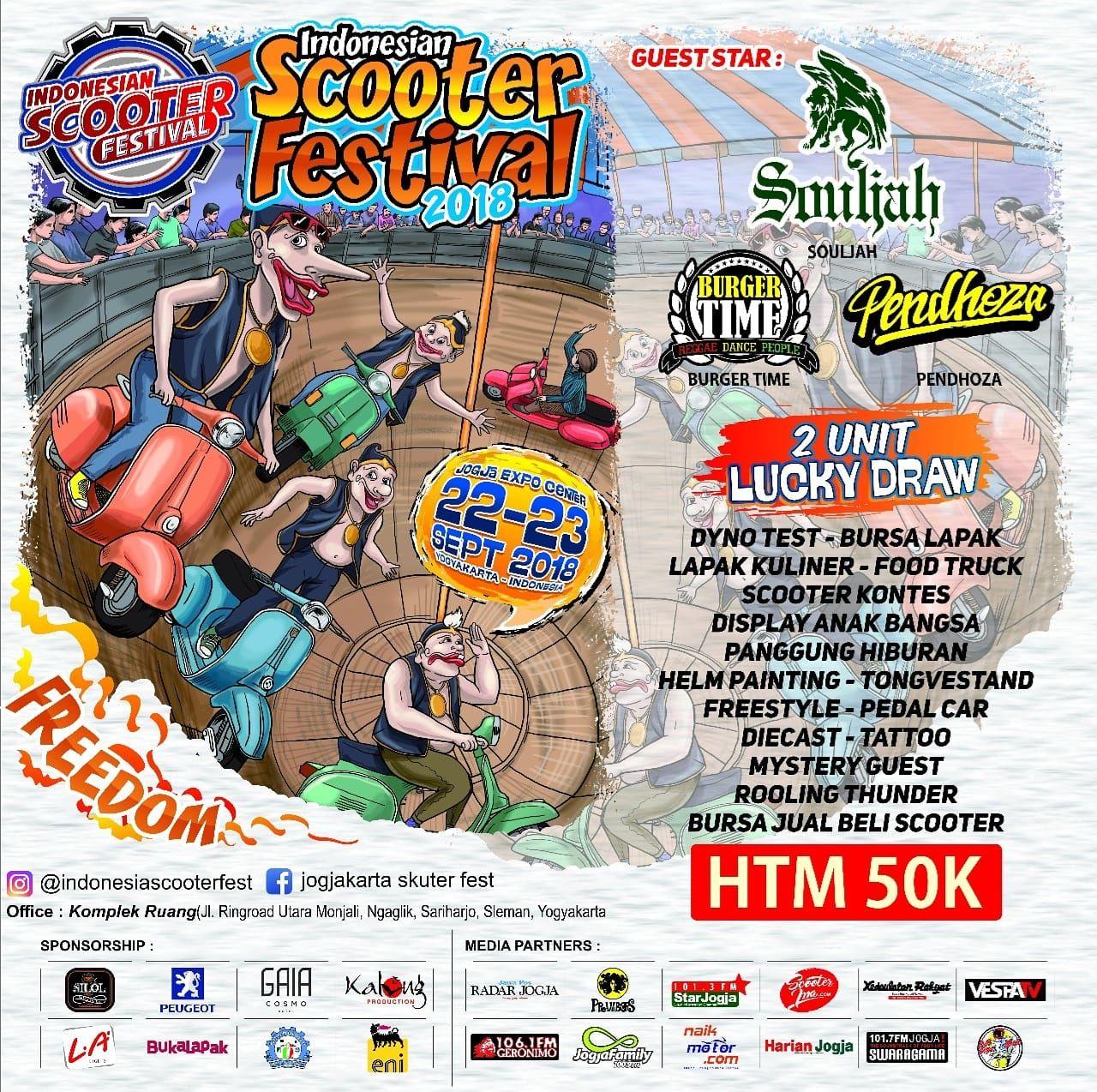 Indonesia Scooter Festival 2018 Lebaran Anak Vespa