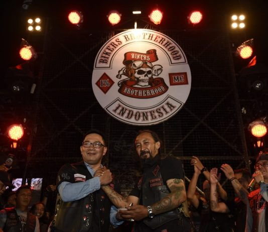 Ridwan Kamil menjadi honorary member Bikers Brotherhood 1% MC