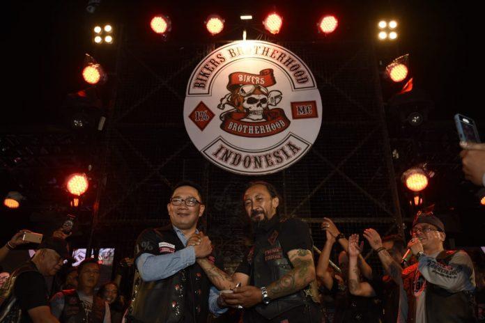 Ridwan Kamil menjadi honorary member Bikers Brotherhood 1% MC