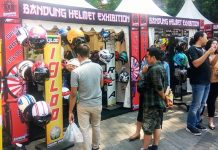Pengunjung Bandung Helmet Exhibition 2018