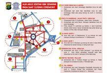Penutupan Asian Games 2018 4 Ruas Jalan Sekitar GBK Ditutup