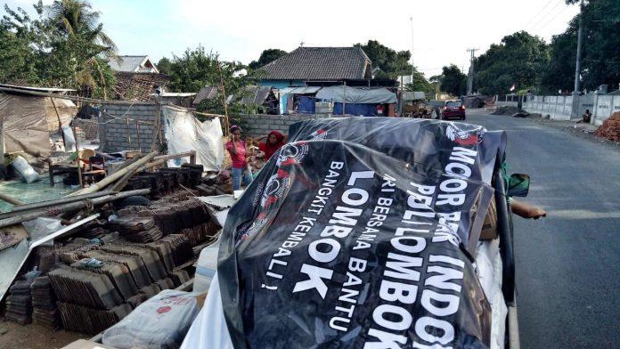 Motor Besar Indonesia Membantu Korban Gempa Lombok