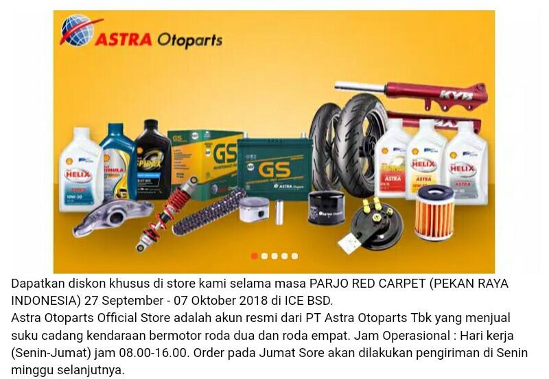 Astra Otoparts di Shopee Parjo