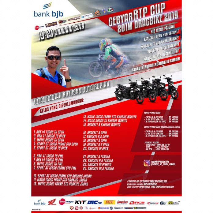 Gebyar RTP Cup Drag Bike 2019 Diundur