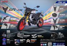 aksesori resmi Yamaha MT-15
