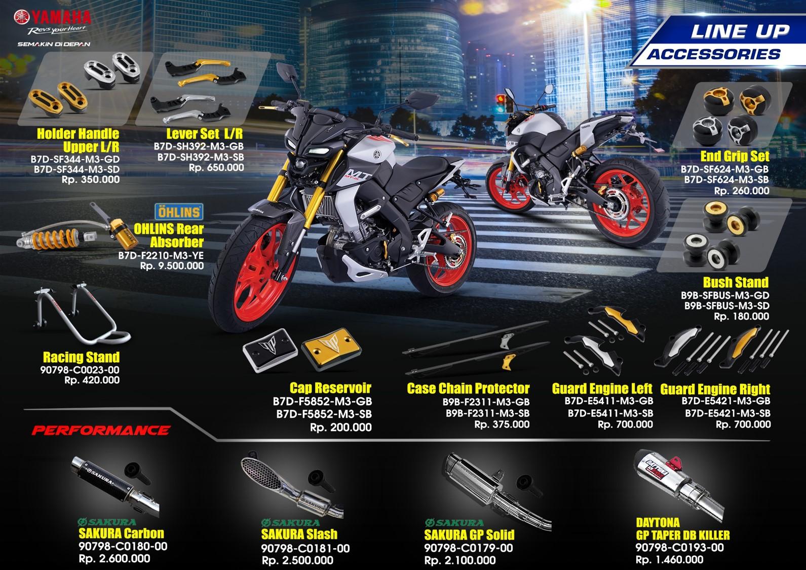 aksesoris resmi Yamaha MT-15