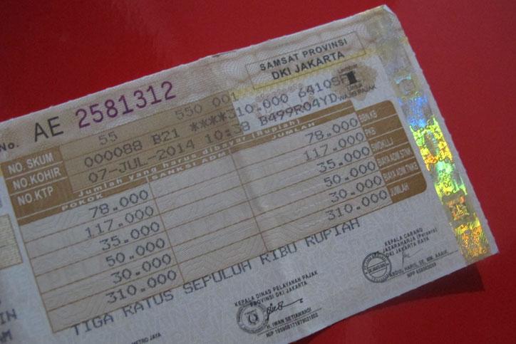DKI Jakarta Hapus Sanksi Pajak Kendaraan