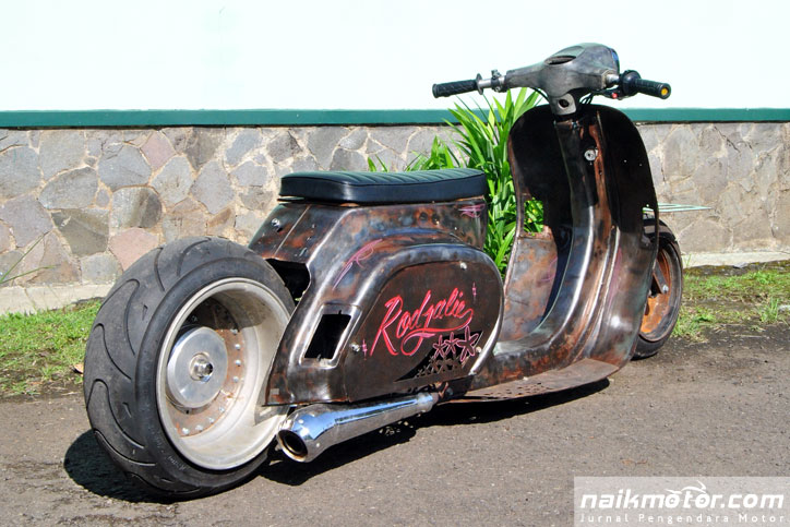 Modifikasi Vespa Rat Rod