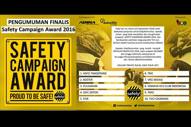 Safety campaign Award