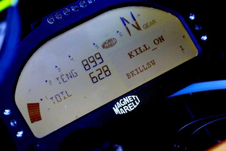 dashboard motor MotoGP