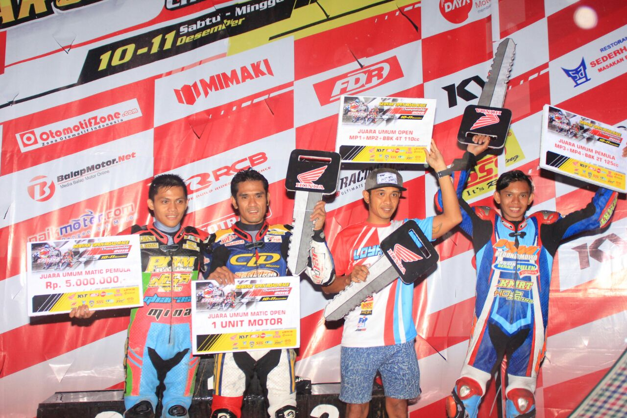 Hasil Gebyar Sumber Production Open Road Race Championship 2016 Cimahi