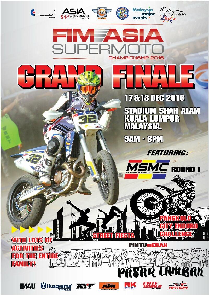 Seri Terakhir FIM Asia Supermoto Championship 2016 di Stadion Shah Alam