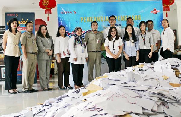 Lampung Raih Uang Tunai Rp 100 Juta dari Federal Oil