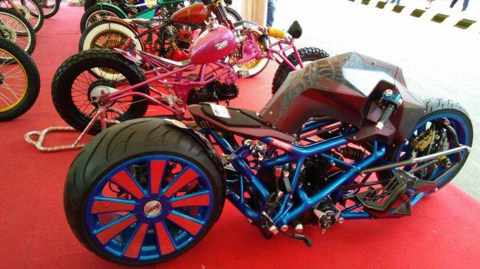 motor modifikasi juara HMC Manado 2017.