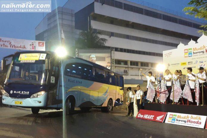 Mudik Balik Bareng Honda 2017 Berangkatkan 2.315 Orang