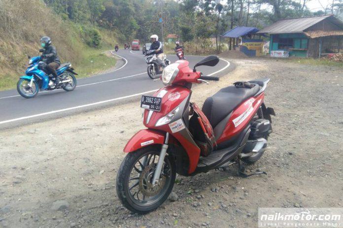 Piaggio Medley ABS Lahap Jalur Jakarta - Ciamis Sejauh 281 KM