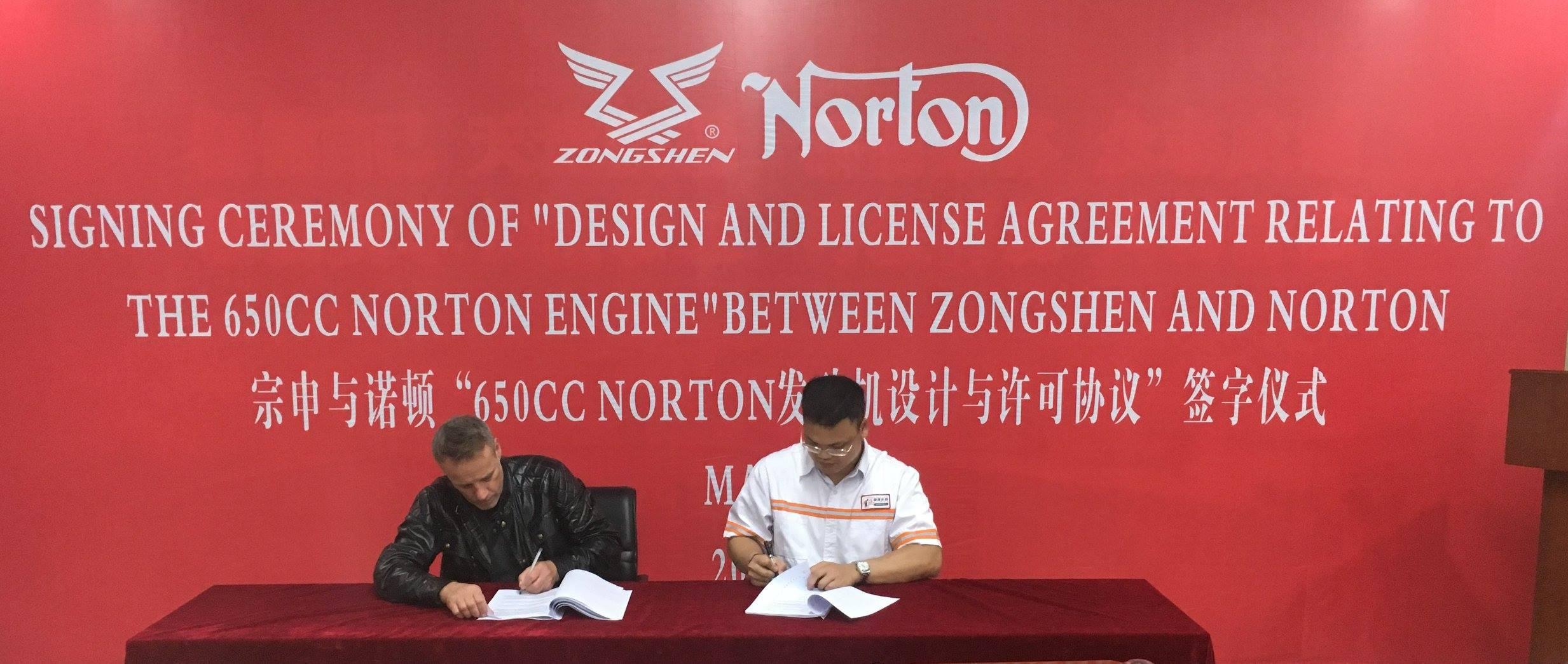 Norton rangkul Zongshen bikin mesin baru twin 650cc