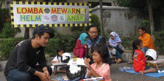 Kutu Region Jogja Gelar Lomba Mewarnai Helm Anak di Indonesia Scooter Festival 2017