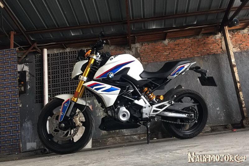 Modifikasi BMW G310R Gaya Anak SMA Di Bekasi Dengan Shocks
