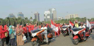 Motor Besar Indonesia Mengawal Obor Asian Games 2018