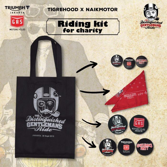 Riding kit for charity DGR Jakarta 2018