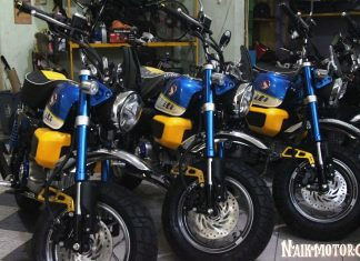 Sertifikat kepemilikan untuk 3 Unit Edisi Khusus Honda Monkey Z125 H2C dan Moriwaki
