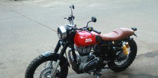 Royal Enfield Classic 350 Custom Cafe Racer Menjadi Street Tracker