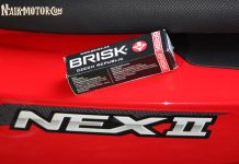 Busi Brisk di Skutik Harian Suzuki NEX II