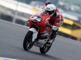 Mario SA Terjungkal di Race Moto3 CEV Le Mans