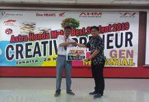 Astra Honda Motor Best Student 2019