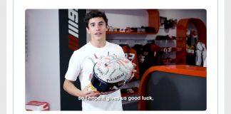 Marquez Pamer Helm Khusus MotoGP 2019 Barcelona