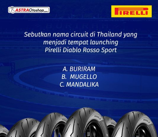 Ikuti Quiz Pirelli di Channel Youtube