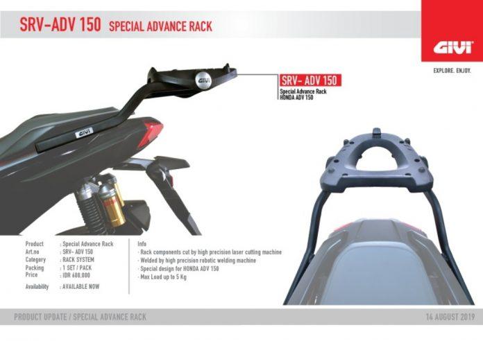 Rack System Givi ADV150