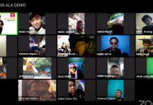 Kopdar Virtual Komunitas Genio