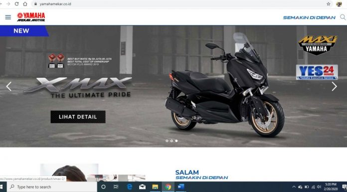 Website Mekar Motor