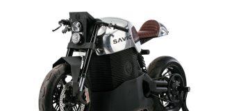 Sepeda Motor Listrik Bergaya Cafe Racer