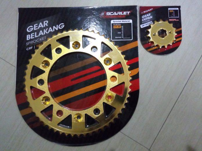 GearSet Scarlet Untuk Dirtbike