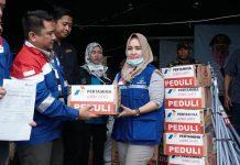 Pertamina Lubricants Bantu Korban Banjir