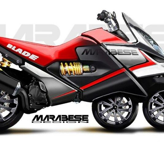 Motor roda tiga rancangan Italia