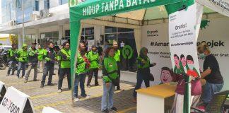 Gojek Bekali Mitra Driver Ribuan Hand Sanitizer, Vitamin dan Desinfektan