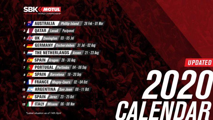 Kalender WorldSBK 2020