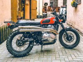 Royal Enfield Twin Scrambler dari Latvia