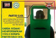 sekat pelindung untuk driver ojol