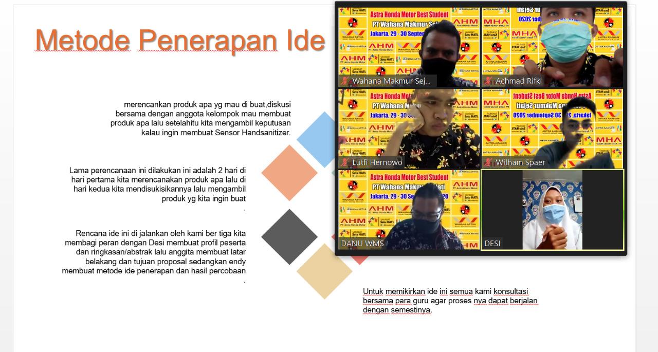 digelar Main Dealer sepeda motor Hond Jakarta Tangerang, PT. Wahana Makmur Sejati (WMS), (30/9/2020). Ini Pemenang AHMBS 2020 Regional Jakarta-Tangerang yang mewakili Wahana Honda ke tingkat nasional.