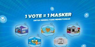 1 Vote 1 Masker