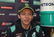 Rossi dalam seragam Petronas