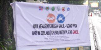 Sistem Ganjil-Genap Kota Bogor