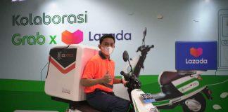 Kolaborasi Grab Lazada