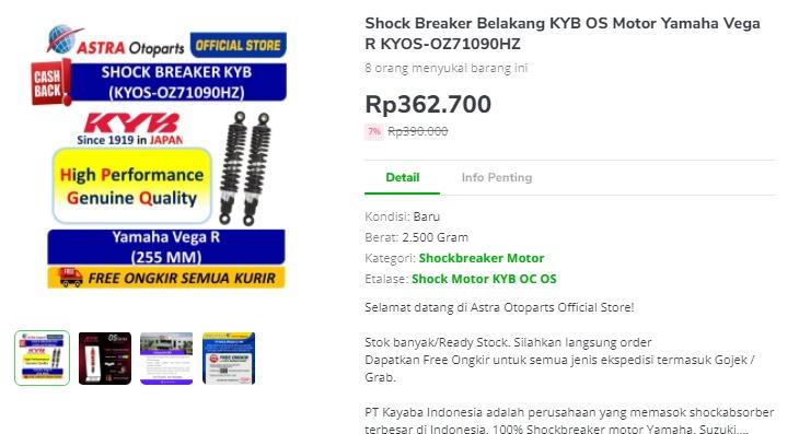 Shock Absorber KYB OZ